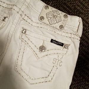 White Miss Me skinny jeans